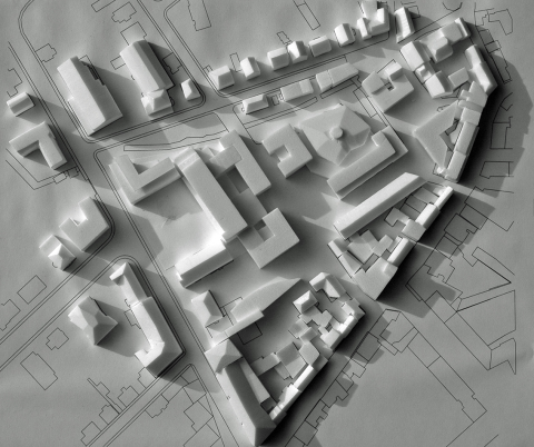 Oberursel Rathausumfeld, Arbeitsmodell